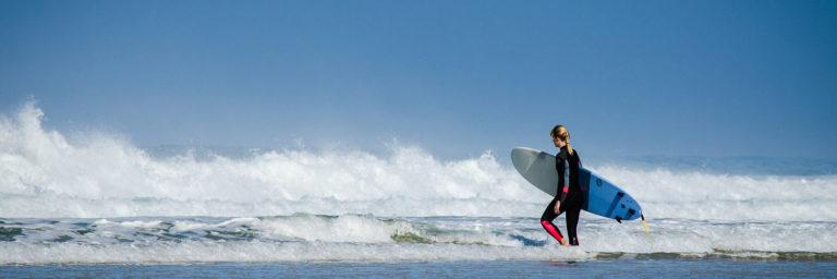 surfer à l'île de Ré